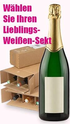 Moussierender Weißwein-Pakete