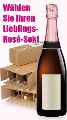 Moussierender Roséwein-Pakete